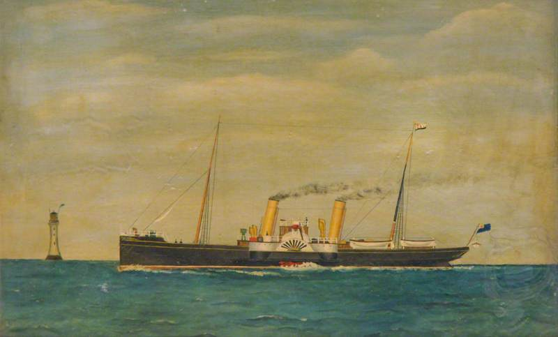 Twin Funnel Paddle Steamer