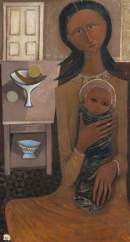 Woman with Child and Still Life