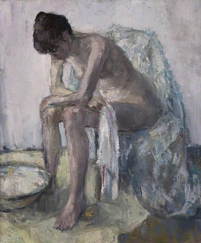 Seated Nude at Washbasin