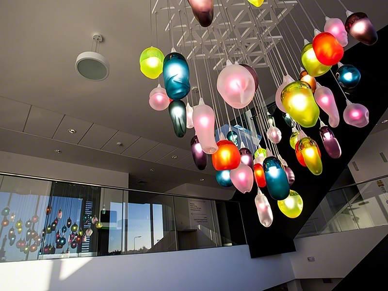 Interactive Hand-Blown Glass Artwork