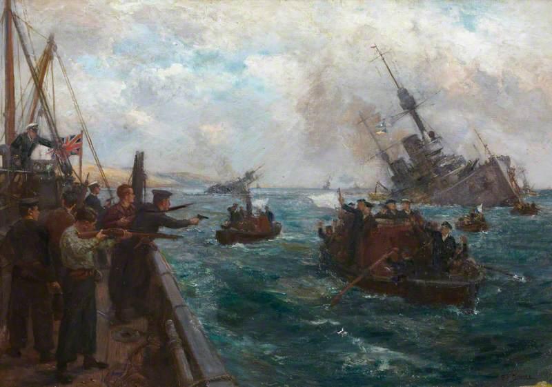 Sinking of the German Fleet – Scapa Flow on Saturday 21 June 1919