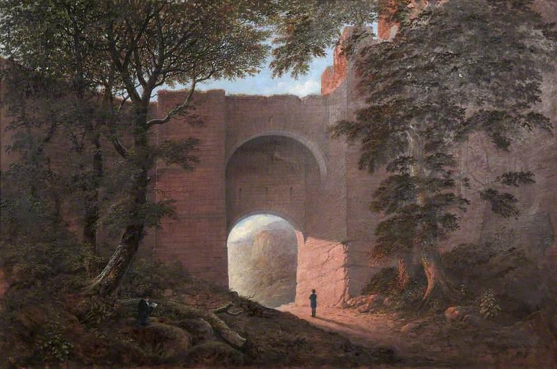 Robert Burns at Rosslyn Castle
