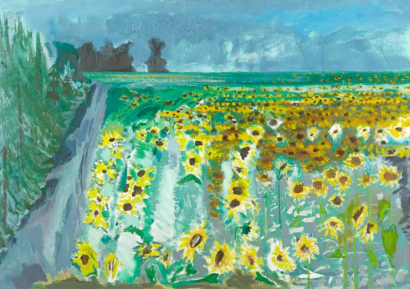 Sunflowers and Mistral