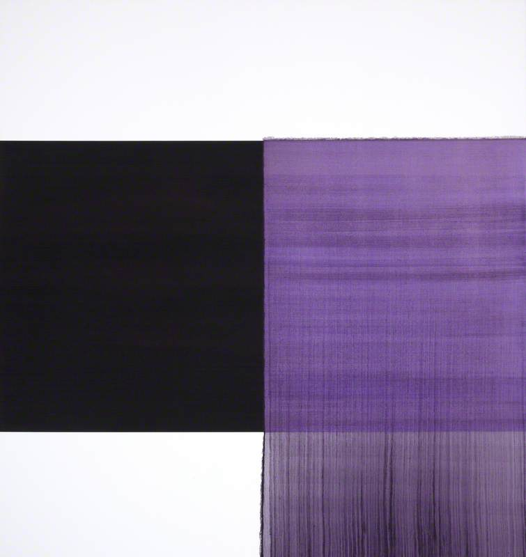 Exposed Painting: Cobalt Black, Violet, Charcoal Black
