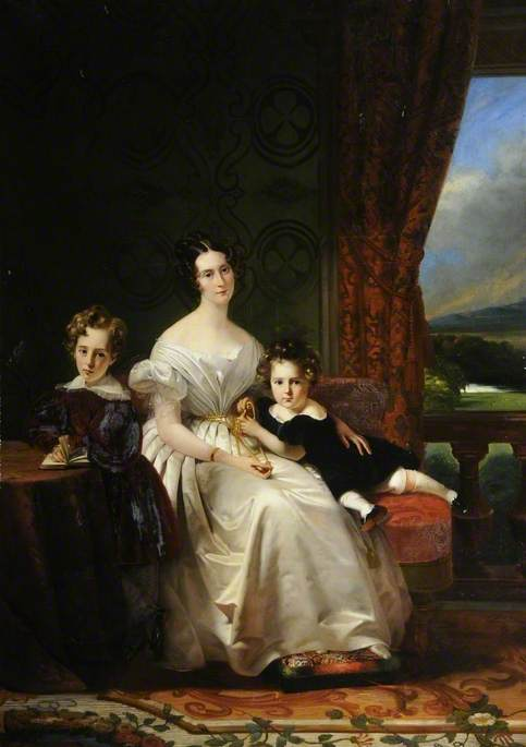 Mary Barbara (1801–1876), Lady Chichester, with Her Two Elder Sons