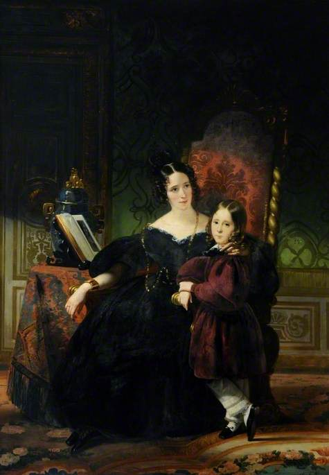 Lady Clifford Constable, with Her Son, Talbot