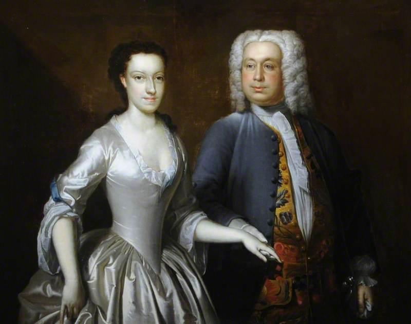 Cuthbert Tunstall (1681–1747), and His Second Wife Elizabeth Heneage (d.1766)