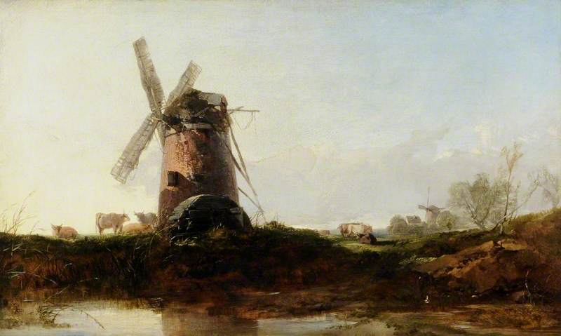 Landscape with a Windmill and Cattle