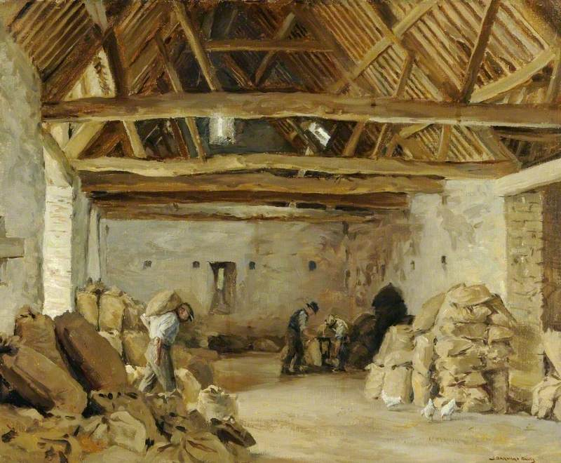 Weighing the Sacks (The Tithe Barn)