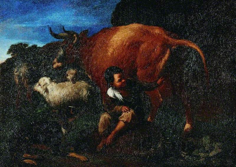 Shepherd Boy and a Cow