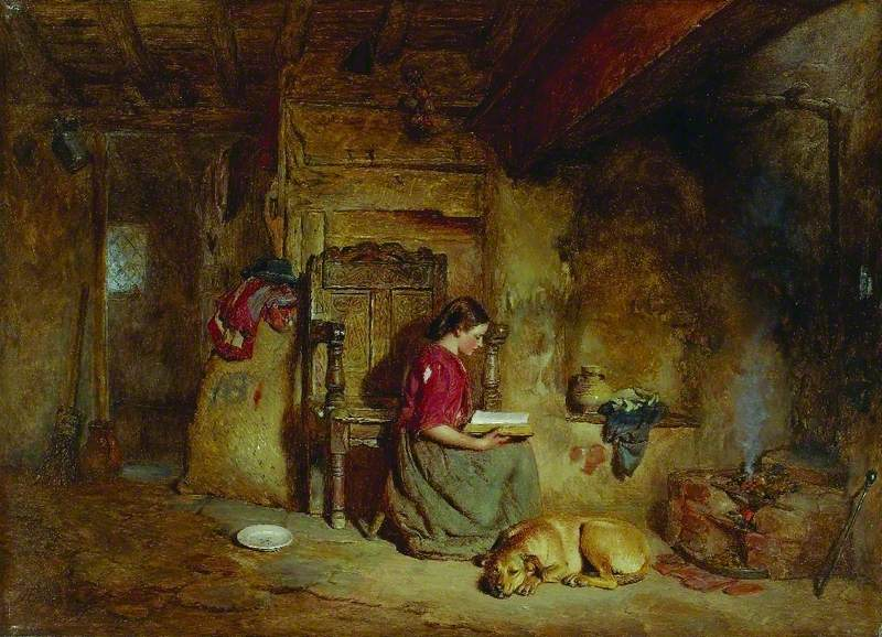 Interior, Girl Reading