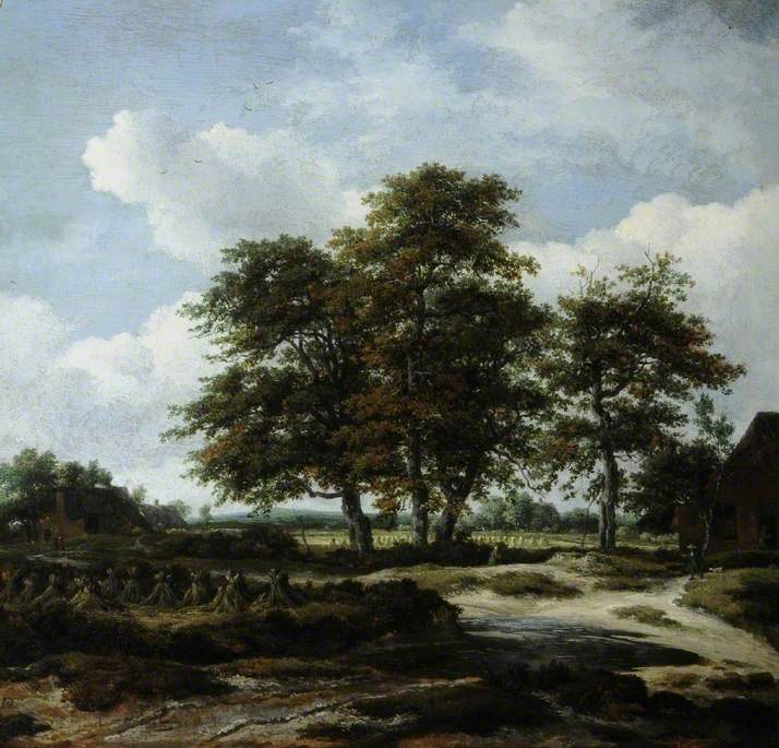 Wooded Landscape with Cornfields