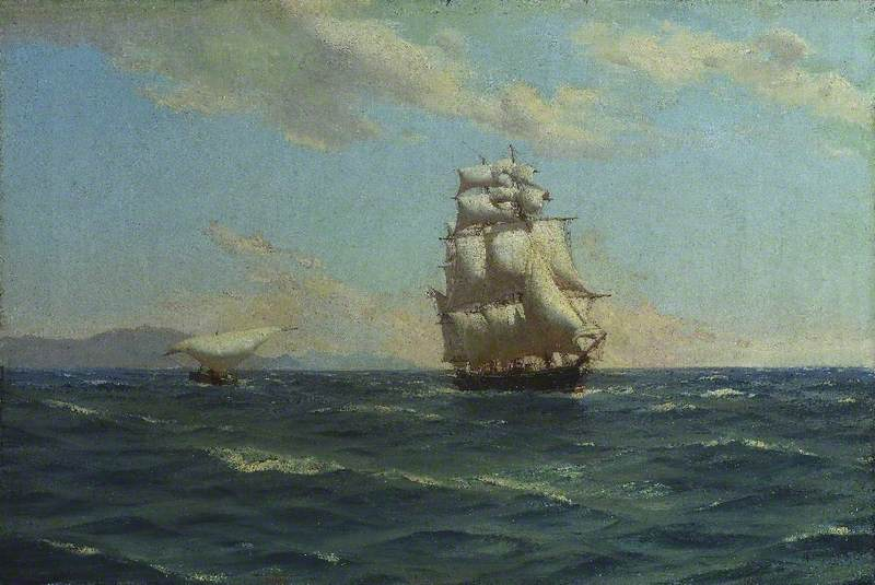 Off the Canaries (British Cruiser 'Auxiliary Steam')
