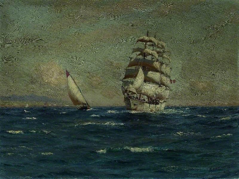 Sailing Vessels off the Coast