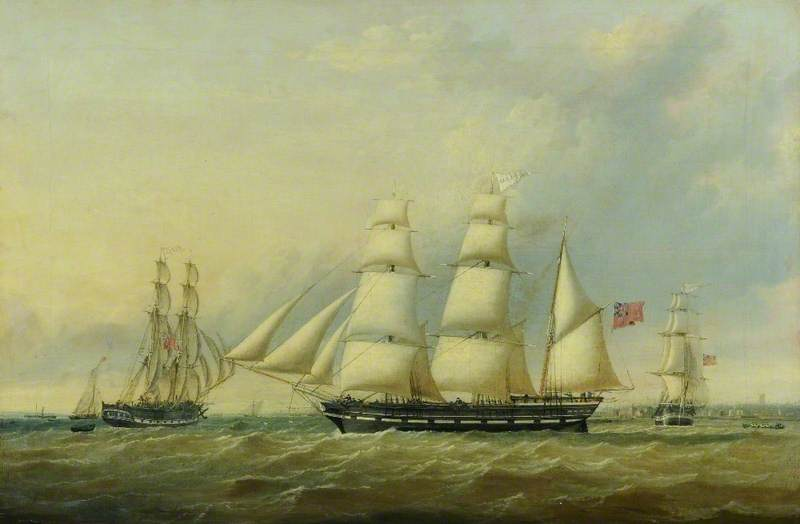 The Brig 'Ruby', the Barque 'Wanderer' and the Snow 'Garnet', off Hull