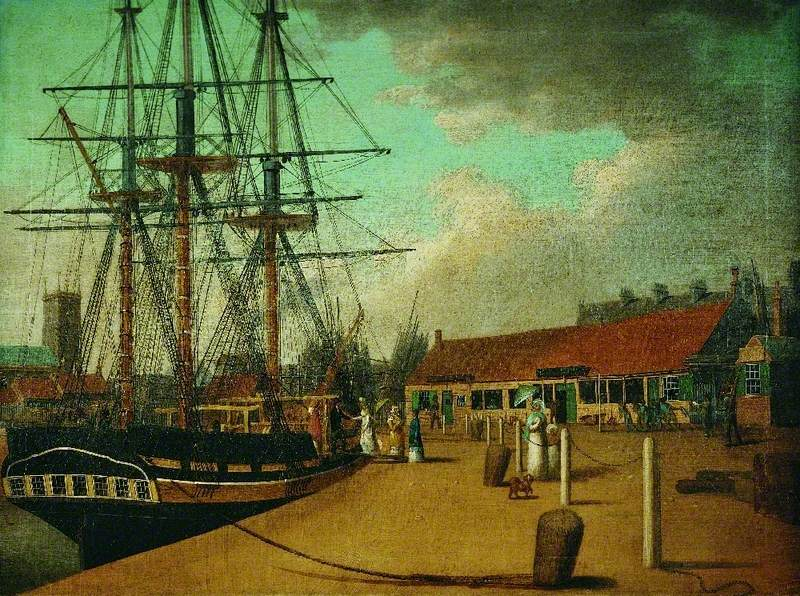Westerdale's Yard and the 'Wellington' from the New Dock, Hull