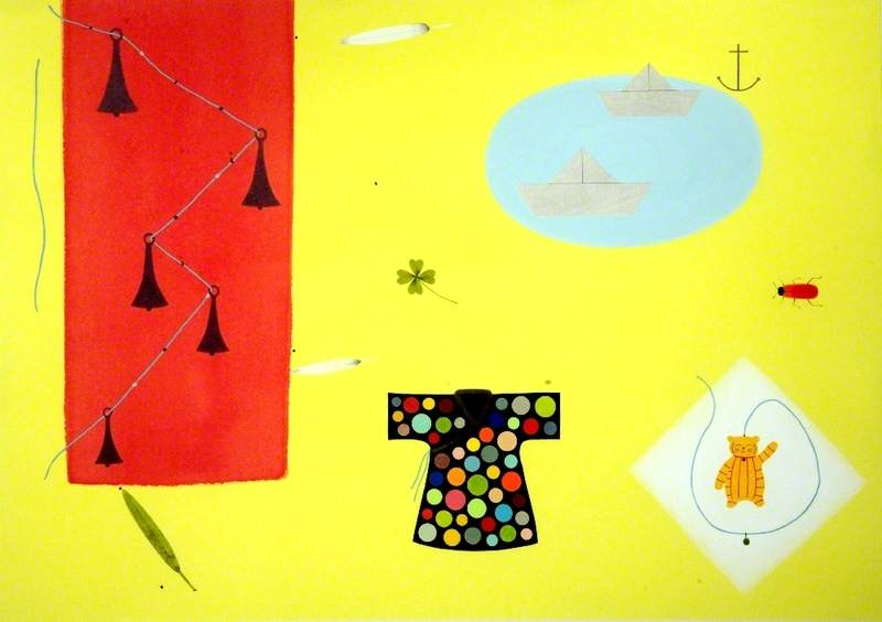 Still Life with Silver Bells and Paper Boats