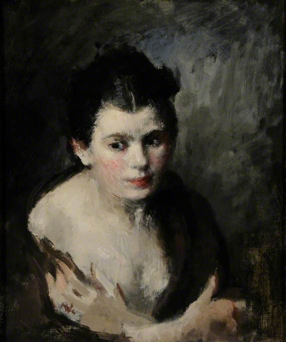 Portrait of a Girl with Her Wrists Crossed