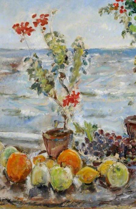 Geraniums and Fruit, Robin Hood's Bay, North Yorkshire