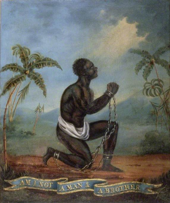 The Kneeling Slave, 'Am I not a man and a brother?'