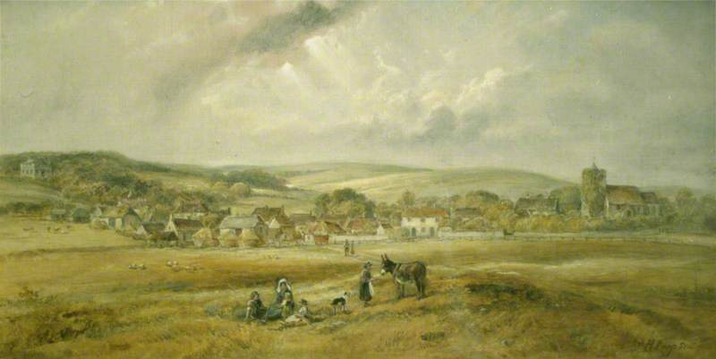 The Village of Portslade, East Sussex, in 1840