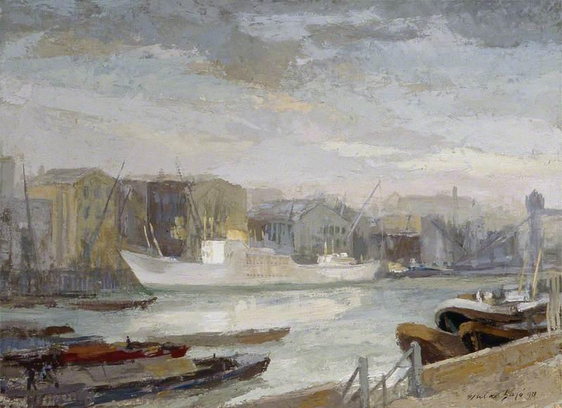 Merchant Ship on Thames