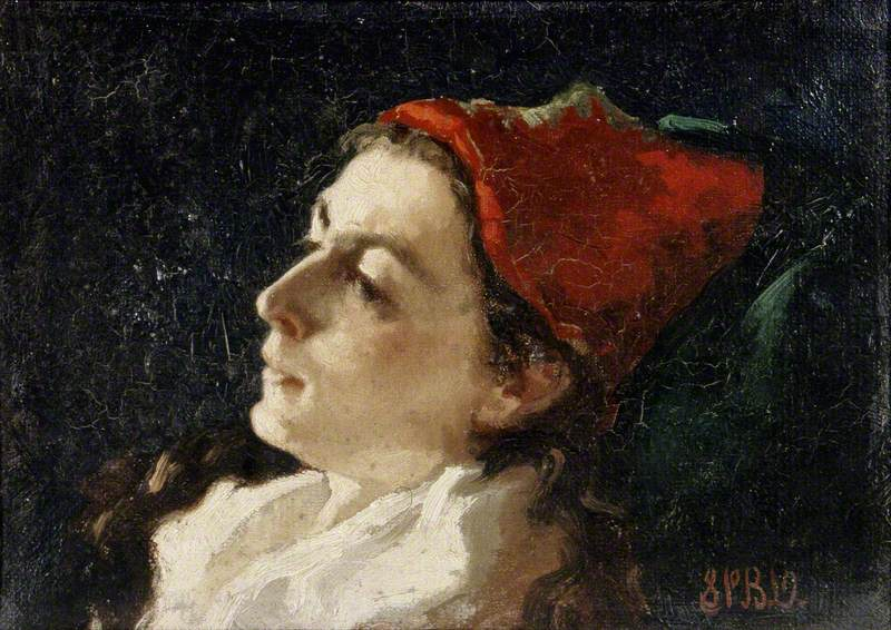Head of a Woman in A Red Cap