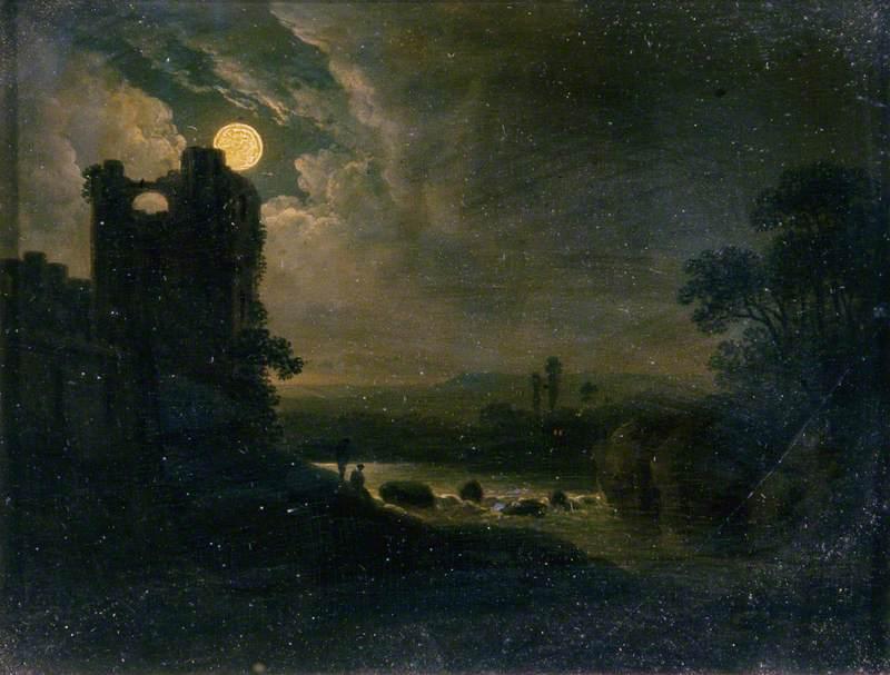 Moonlit Landscape with River