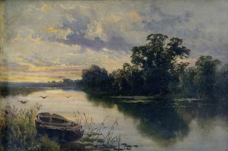 A Quiet Evening on the Thames Near Sonning, Berkshire