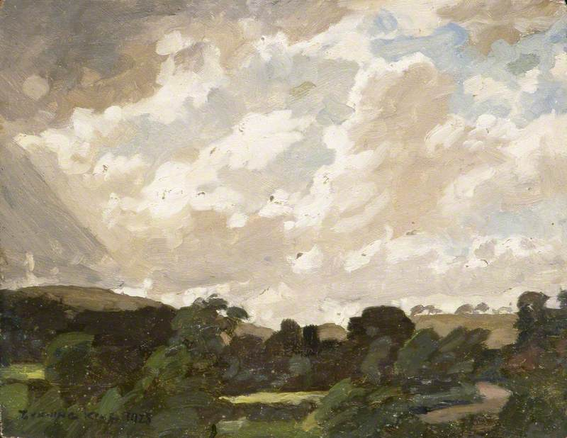 Landscape with Cloudy Sky