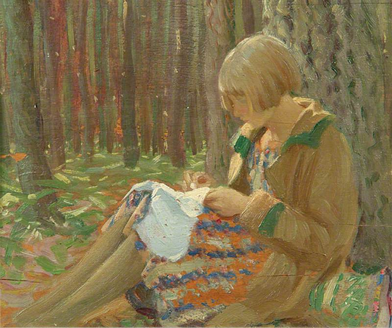 Mary Sitting in a Wood
