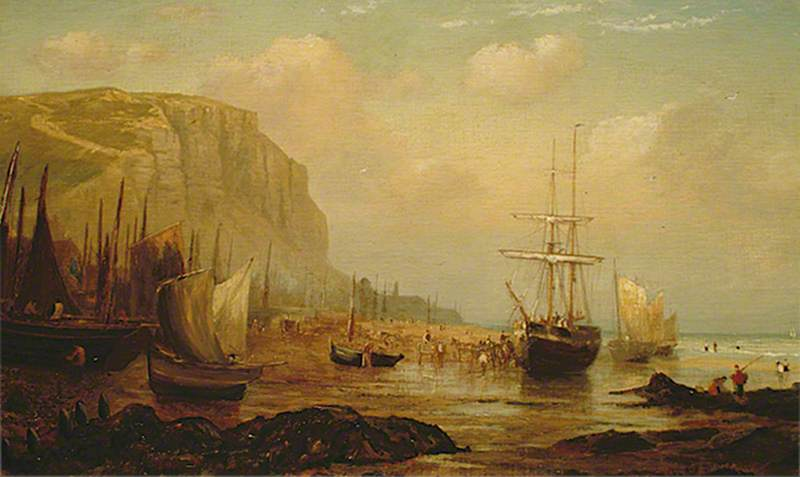 East Cliff, Hastings, East Sussex, and Fishing Vessels