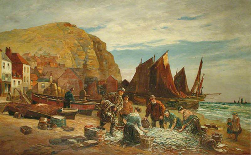 Fishermen on the Stade, Hastings, East Sussex