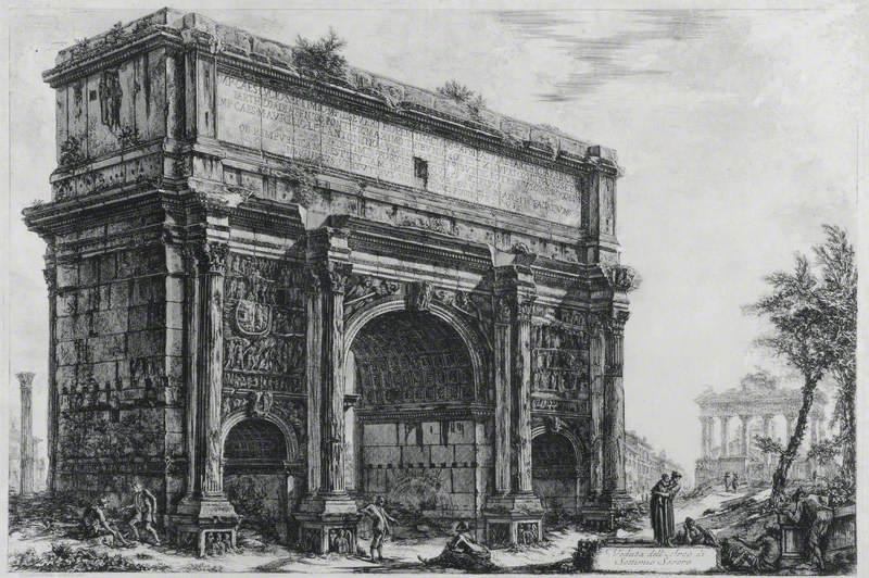 Veduta dell' Arco di Settimio Severo (View of the Arch of Septimius Severus)