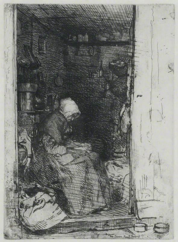 La vielle aux loques (Old Woman Sorting Rags)