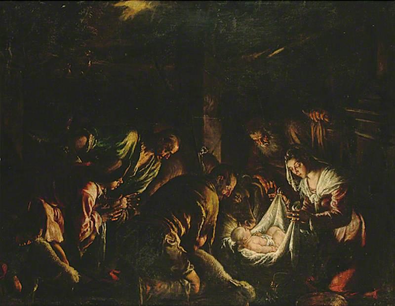 Nativity Scene: The Adoration of the Shepherds