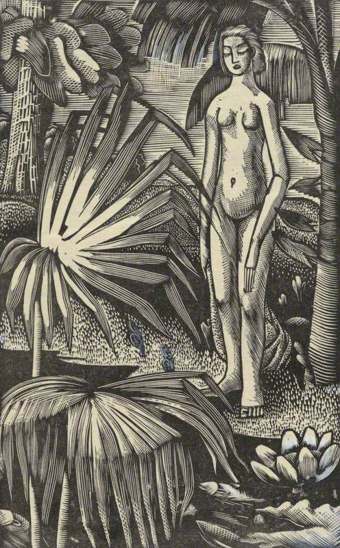 Girl with Palms