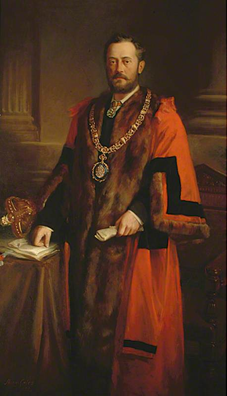 Reproduction of a Portrait of G. A. Wallis, First Mayor of Eastbourne