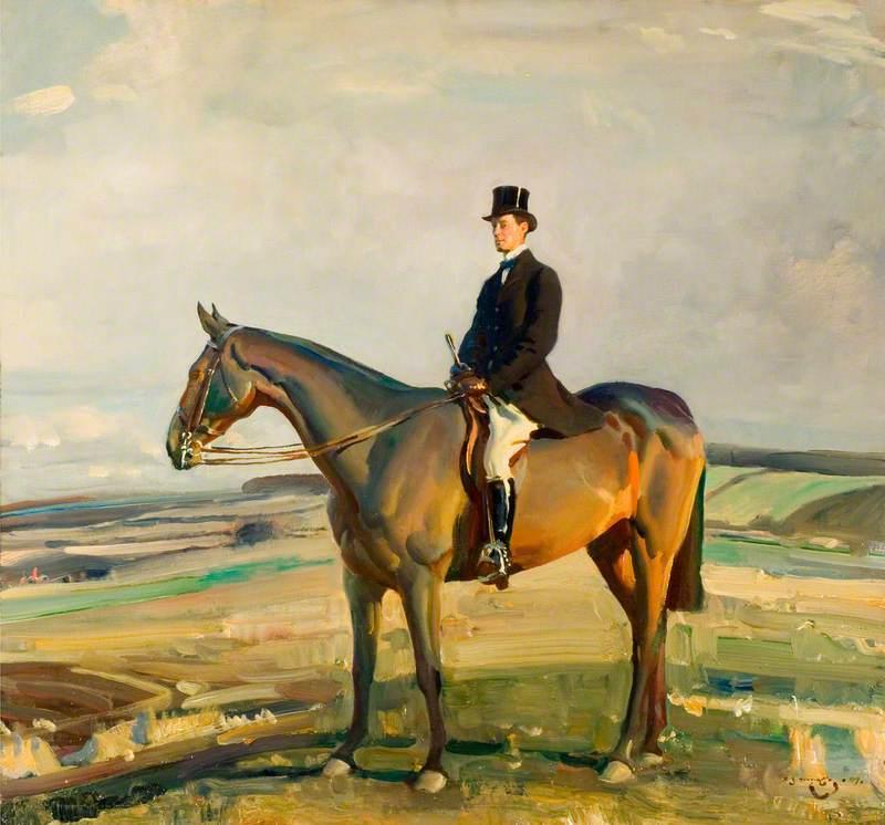 Sir Raymond Greene, DSO, MP, on Horseback, 1919