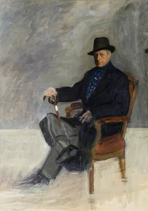 Sir Alfred Munnings Seated