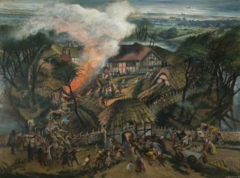 Attack on Southchurch Hall during the Peasants' Revolt, 1381