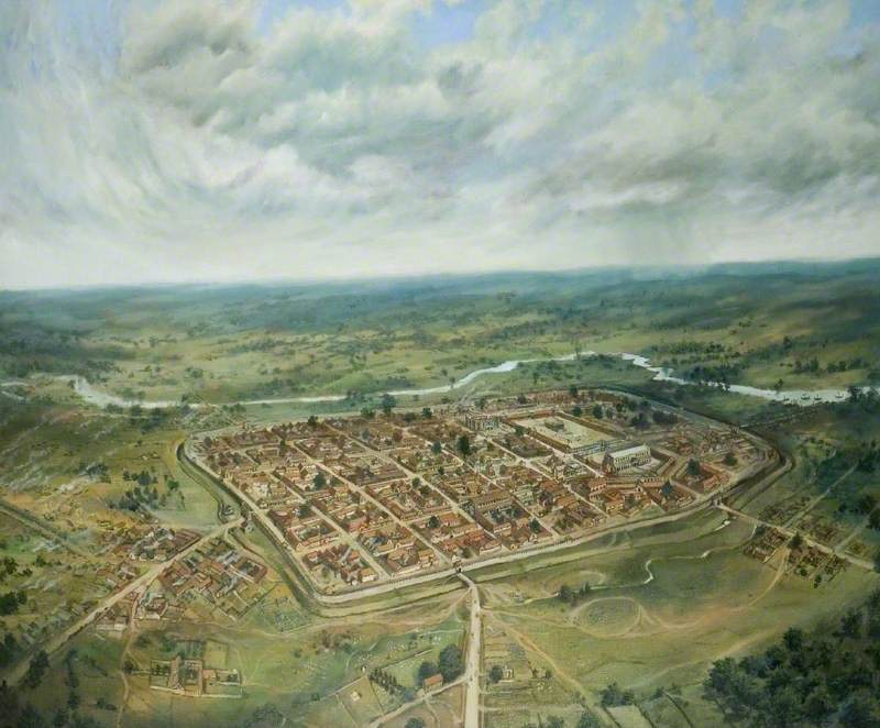View of Roman Colchester from the South-West
