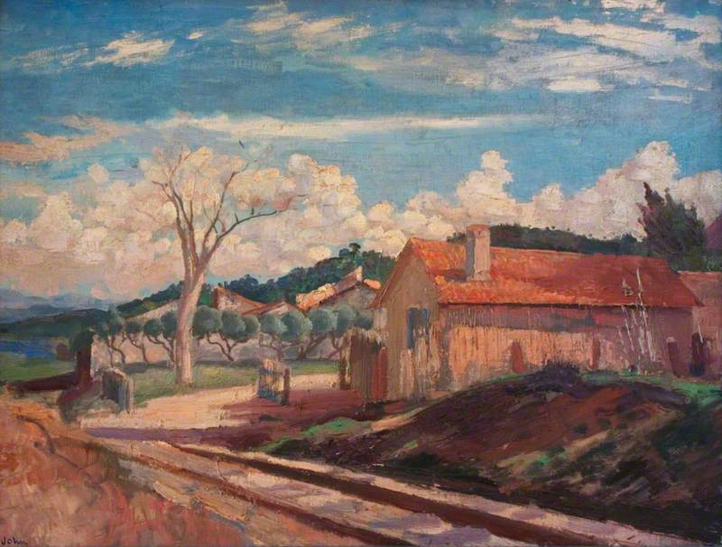 Landscape with Level Crossing