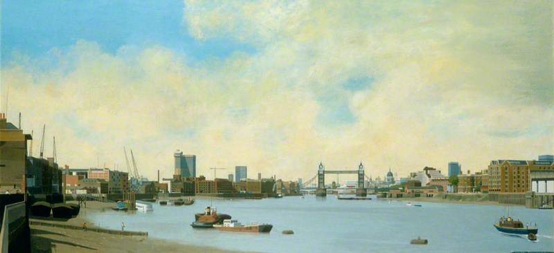 The Pool of London and Tower Bridge from Rotherhithe