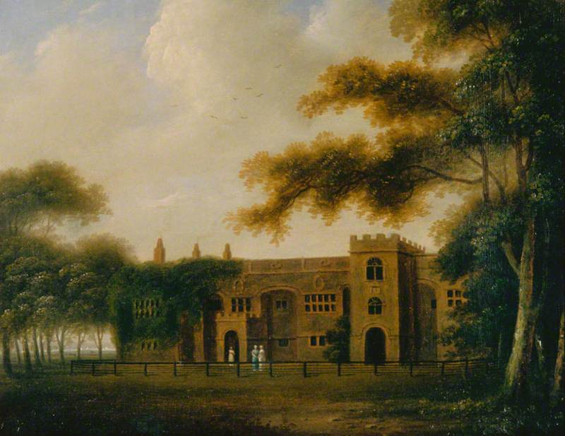A View of Hale Hall, Lancashire