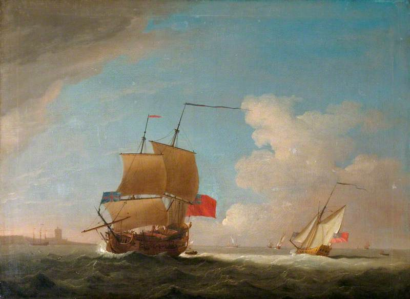 English Men o' War and Other Shipping off the Coast