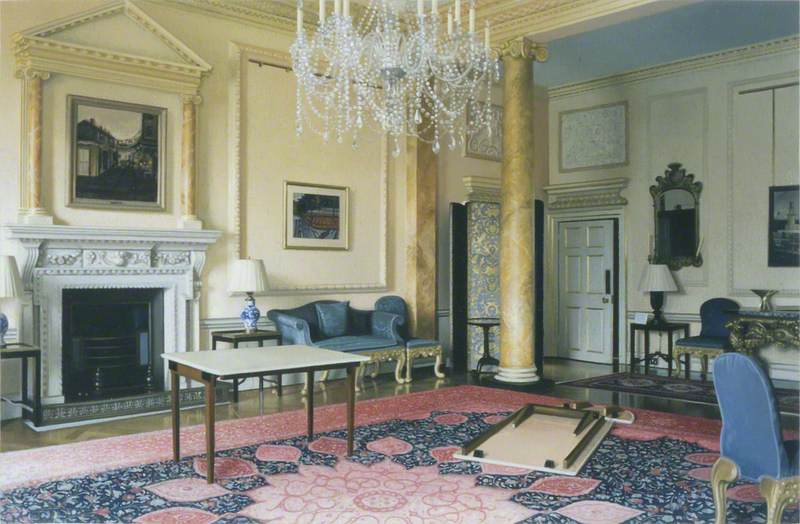 The Pillared Room at 10 Downing Street