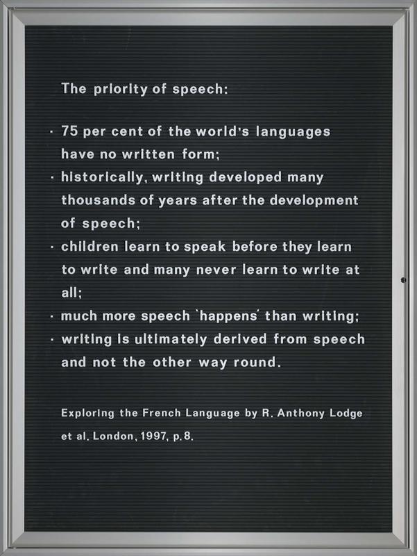 The Priority of Speech