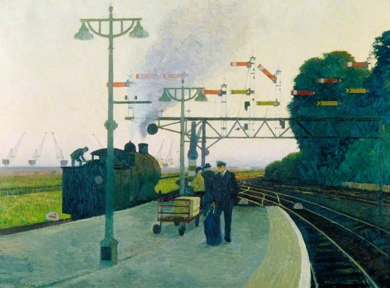 Platform Number 4, Southampton Central Station, Evening
