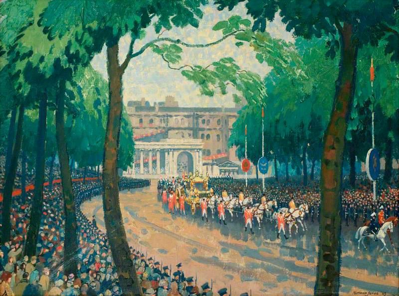 Coronation Procession Entering Hyde Park